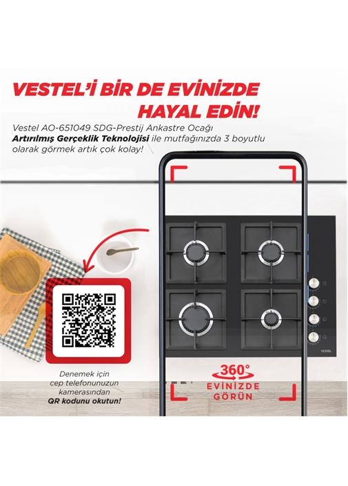 Vestel AO-651049 SDG-Prestij Ankastre Ocak