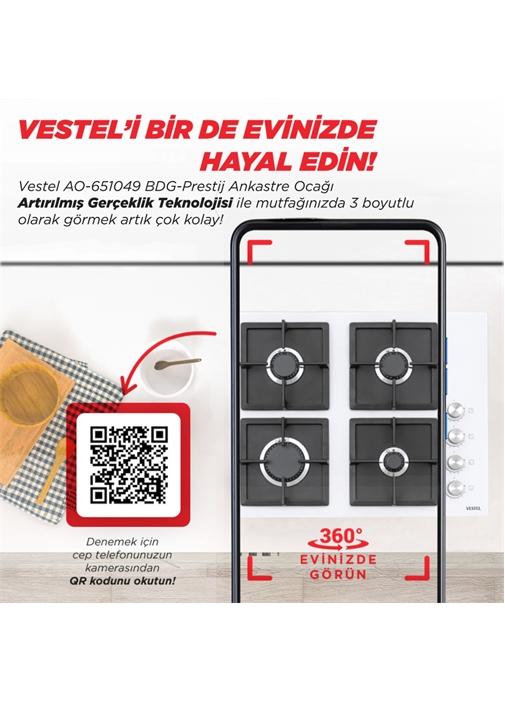 Vestel AO-651049 BDG-Prestij Ankastre Ocak