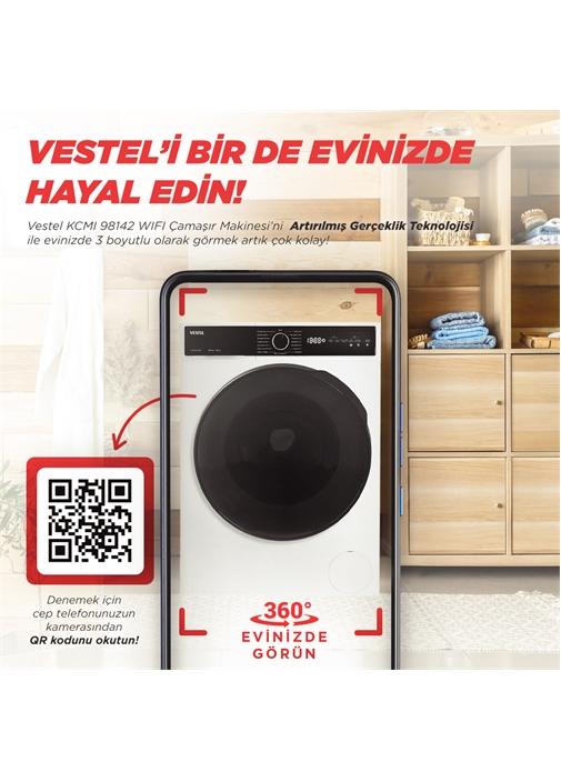 Vestel KCMI 98142 WIFI 9 kg 1400 Devir Kurutmalı Çamaşır Makinesi