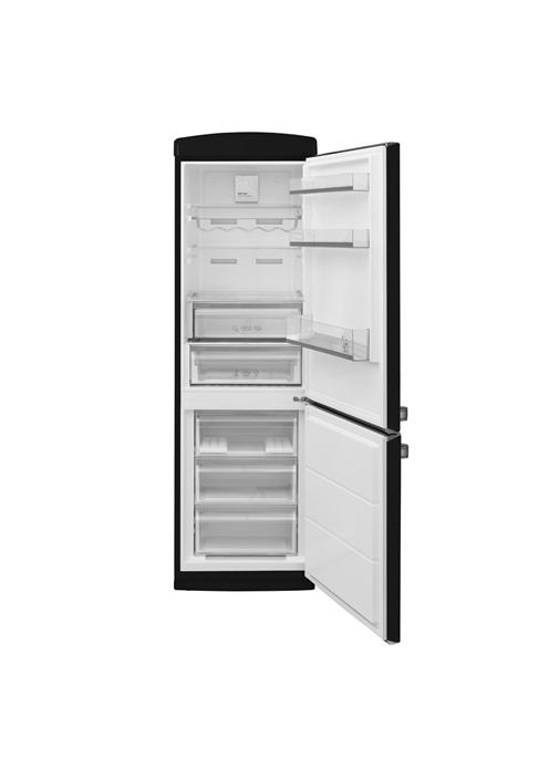 Vestel Retro NFK 37001 Siyah No-Frost Buzdolabı