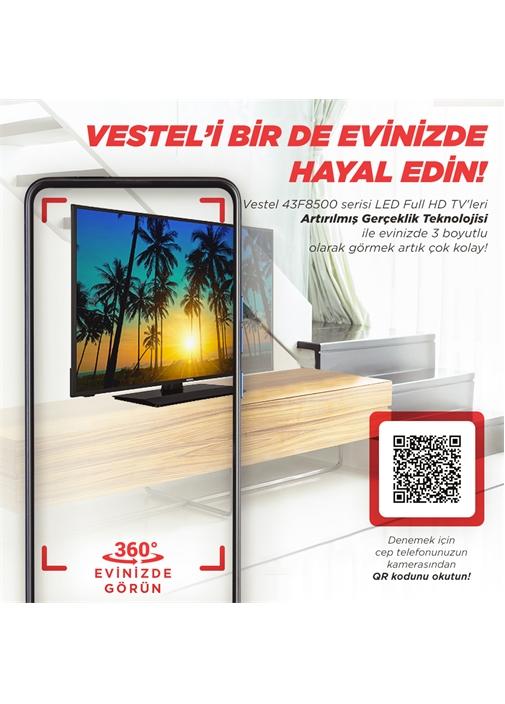 "Vestel 43F8500 43"" 108 Ekran Full HD TV"
